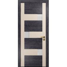 Ульяновская дверь Ронда-1 венге/ясень белый стекло триплекс белый