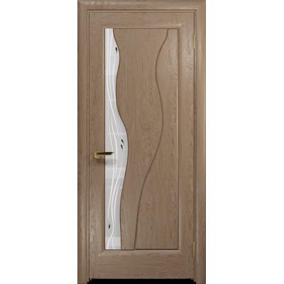 Ульяновская дверь Энжел дуб стекло белое пескоструйное «капля»