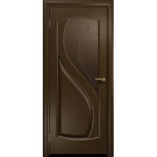 Ульяновская дверь Диона-1 венге стекло бронзовое пескоструйное «капля»