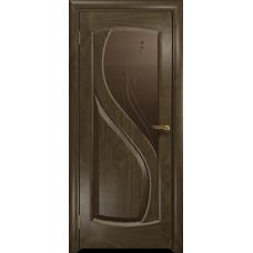 Ульяновская дверь Диона-1 американский орех стекло бронзовое пескоструйное «капля»