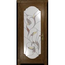 Ульяновская дверь Валенсия-2 сукупира стекло витраж «кампанелла»