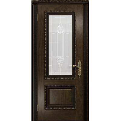 Ульяновская дверь Версаль-1 Декор американский орех тонированный стекло белое пескоструйное «кардинал»