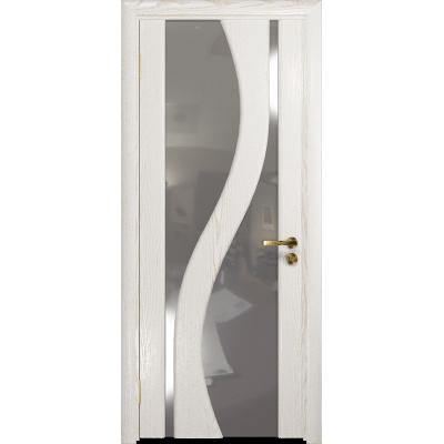 Ульяновская дверь Веста ясень белый золото стекло триплекс зеркало