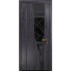 Ульяновская дверь Торелло абрикос стекло триплекс черный 3d «куб»