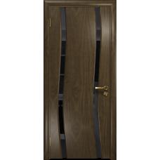 Ульяновская дверь Грация-2 американский орех стекло триплекс черный