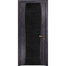 Ульяновская дверь Портелло-2 абрикос стекло триплекс черный с тканью