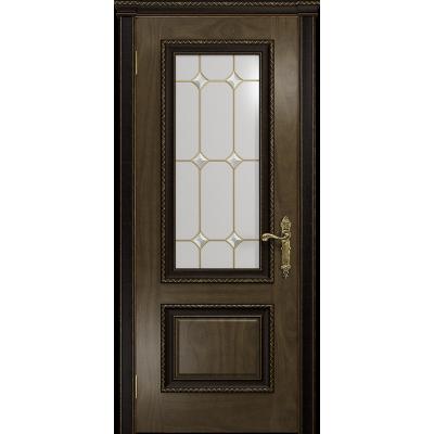 Ульяновская дверь Версаль-1 Декор американский орех стекло витраж «адель»