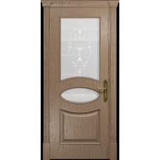 Ульяновская дверь Санремо дуб стекло белое пескоструйное «италия»