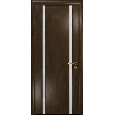 Ульяновская дверь Триумф-2 американский орех тонированный стекло триплекс белый