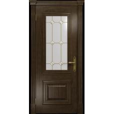 Ульяновская дверь Кардинал американский орех тонированный стекло витраж «адель»