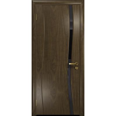 Ульяновская дверь Грация-1 американский орех стекло триплекс черный