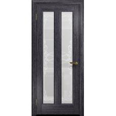 Ульяновская дверь Тесей абрикос стекло белое пескоструйное «порта»