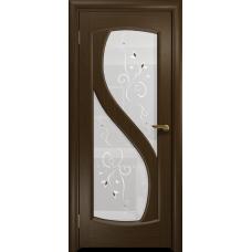 Ульяновская дверь Диона-2 венге стекло белое пескоструйное «лилия»