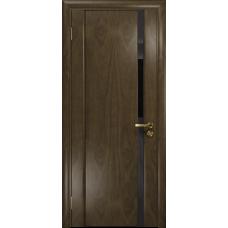 Ульяновская дверь Триумф-1 американский орех стекло триплекс черный