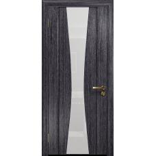 Ульяновская дверь Соната-2 абрикос стекло триплекс белый