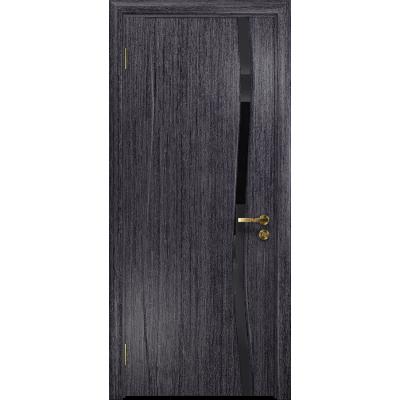 Ульяновская дверь Грация-1 абрикос стекло триплекс черный