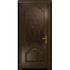 Ульяновская дверь Валенсия-1 американский орех тонированный стекло бронзовое пескоструйное «фиор»