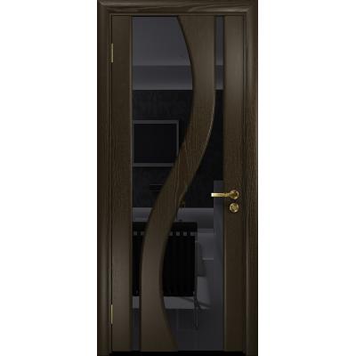 Ульяновская дверь Веста ясень венге стекло триплекс черный