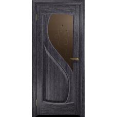 Ульяновская дверь Диона-1 абрикос стекло бронзовое пескоструйное «лилия»