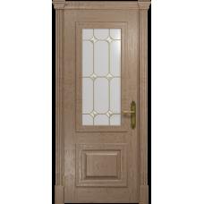 Ульяновская дверь Кардинал дуб стекло витраж «адель»