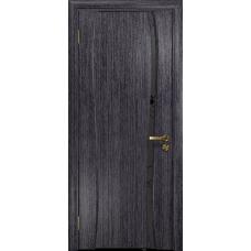 Ульяновская дверь Портелло-1 абрикос стекло триплекс черный «вьюнок» матовый
