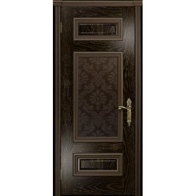 Ульяновская дверь Версаль-4 ясень венге золото стекло бронзовое пескоструйное «ковер»