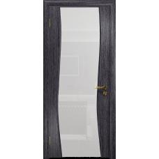 Ульяновская дверь Грация-3 абрикос стекло триплекс белый