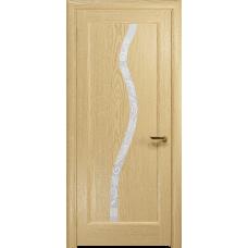 Ульяновская дверь Миланика-4 ясень ваниль стекло белое пескоструйное «миланика-4»