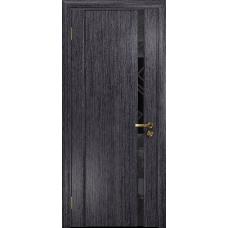 Ульяновская дверь Триумф-1 абрикос стекло триплекс черный 3d «куб»