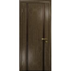 Ульяновская дверь Триумф-2 американский орех стекло триплекс бронзовый «вьюнок» глянцевый