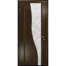 Ульяновская дверь Торелло американский орех тонированный стекло триплекс белый 3d «куб»