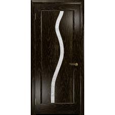 Ульяновская дверь Миланика-4 ясень венге золото стекло белое пескоструйное «миланика-4»