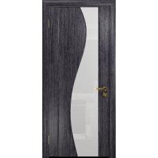 Ульяновская дверь Фрея-2 абрикос стекло триплекс белый