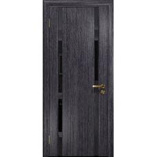 Ульяновская дверь Триумф-2 абрикос стекло триплекс черный