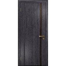 Ульяновская дверь Триумф-1 абрикос стекло триплекс бронзовый «вьюнок» глянцевый