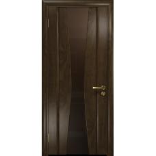 Ульяновская дверь Соната-2 американский орех тонированный стекло триплекс бронзовый