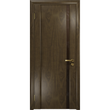 Ульяновская дверь Триумф-1 американский орех стекло триплекс бронзовый «вьюнок» глянцевый