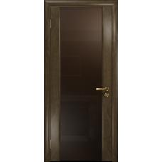 Ульяновская дверь Триумф-3 американский орех стекло триплекс бронзовый