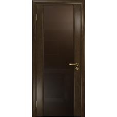 Ульяновская дверь Триумф-3 американский орех тонированный стекло триплекс бронзовый