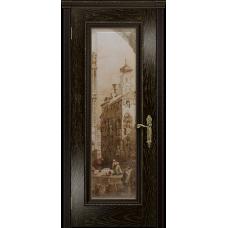 Ульяновская дверь Версаль-5 Декор ясень венге золото стекло цифровая фреска