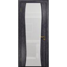 Ульяновская дверь Портелло-2 абрикос стекло триплекс белый