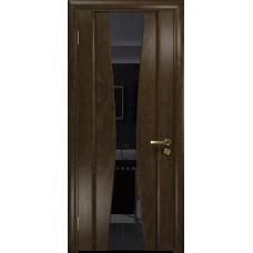 Ульяновская дверь Соната-2 американский орех тонированный стекло триплекс черный