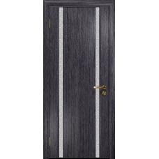 Ульяновская дверь Триумф-2 абрикос стекло триплекс белый с тканью