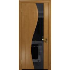 Ульяновская дверь Фрея-2 анегри стекло триплекс черный
