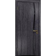 Ульяновская дверь Портелло-1 абрикос стекло триплекс черный