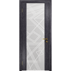 Ульяновская дверь Триумф-3 абрикос стекло триплекс белый 3d «куб»