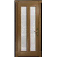 Ульяновская дверь Неаполь ясень античный стекло белое пескоструйное «порта»