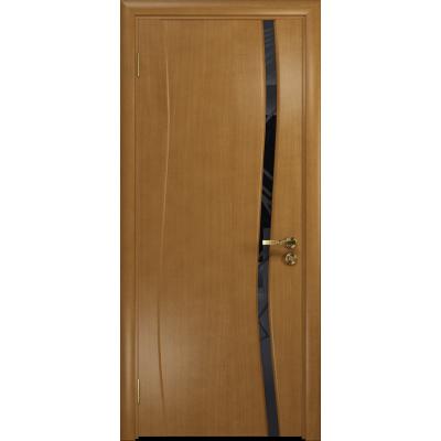 Ульяновская дверь Грация-1 анегри стекло триплекс черный 3d «куб»