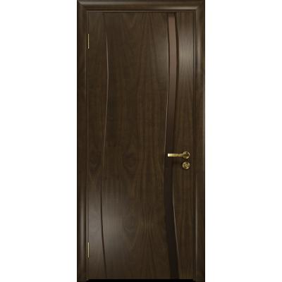 Ульяновская дверь Грация-1 американский орех тонированный стекло триплекс бронзовый