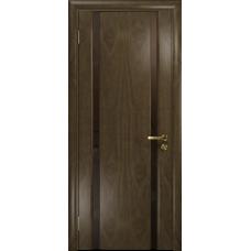 Ульяновская дверь Триумф-2 американский орех стекло триплекс бронзовый «вьюнок» матовый